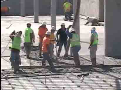 Pouring concrete (link to video)